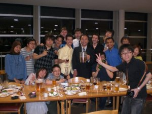 Suzukakedai Campus - Tokodai, Jun 2009. Diner Reception hosted by Hirota Lab.