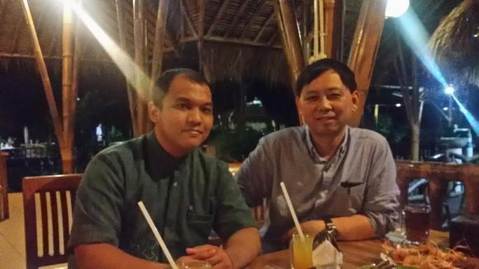 Mang Engking - UI Depok, Nov 2014. Diner bersama Xue Li hosted by Prof Heru.